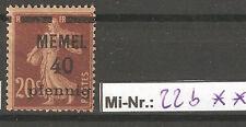 Memelgebiet  Mi-Nr.: 22 b  sauber postfrischer Wert