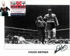 CHUCK WEPNER Signed w/ MUHAMMAD ALI Photo w/ Hologram COA