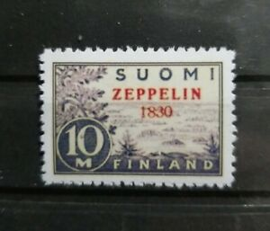 "Finland 1930 C1 ""Year Error"" Zeppelin Overprint  Reproduction Copy Place Holder"