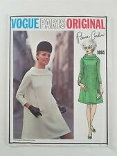 Vogue Paris Original 1960s Sewing Pattern #1895 Cardin Uncut Sz 10 Bust 32.5""