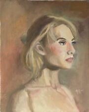 Original Vintage Jeff Barnes 20x16 Portrait Oil Painting