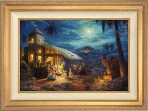 Thomas Kinkade Studios The Nativity 18 x 27 Limited Edition G/P Framed Canvas