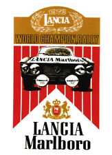 ADESIVO MARLBORO LANCIA FULVIA HF 1600 FANALONE WORLD RALLY CHAMPION 8,4 X 14,1