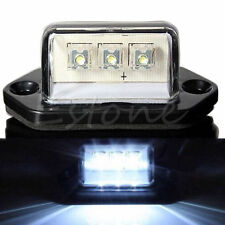WATERPROOF 12V 24V 3LED REAR LICENSE NUMBER PLATE LIGHTS LAMP TRUCK TRAILER BOAT