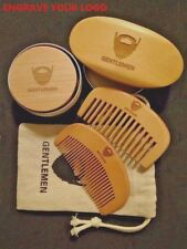Boar Hair Bristle Beard Mustache Brush&Beard Comb Set For GentleMen With Case