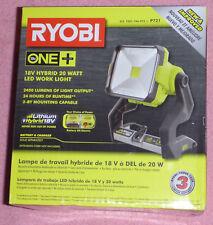 Ryobi One+ P721 18v 20-Watt LED Work Light Dual Power Hybrid 2-Level NEW IN PKG!