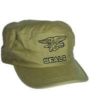 US NAVY SEALS field cap sabbia BERRETTO EAGLE anchor seals INSIGNIA CAP TAGLIA UNICA