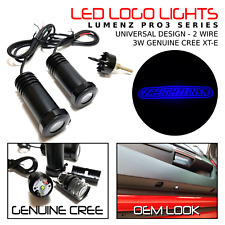 Lumenz CL3 Blue LED Courtesy Logo Lights Ghost Shadow for Freightliner 100928