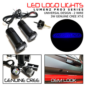 Lumenz C3 Blue LED Courtesy Logo Lights Ghost Shadow for Freightliner 100928
