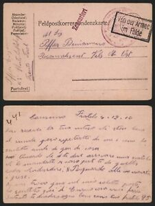 Austria WWI 1916 - Field Post Postcard Trient E349