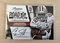 2014 Panini Prestige Carlos Hyde Road to NFL Auto Rookie RC #12 49ers