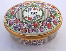 Halcyon Days Enamels A Year To Remember 1993 Enamel Box