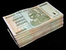 250 Pieces x Zimbabwe 20 Billion Dollar banknotes- paper money currency