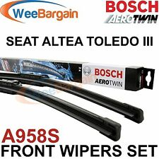 SEAT Altea XL Toledo III Inc Genuino Bosch A958S Aerotwin Frente wiper blades set