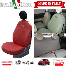 FODERE COPRISEDILI Su Misura! FIAT 500 Fodera FODERINE COMPLETE Rosso 207