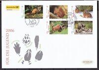 BRD 2006 Deutsche Post FDC MiNr. 2539-2543 Heimische Tiere