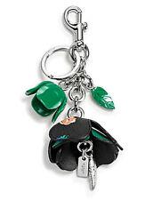 NEW Coach 58517 Green Floral Resin Tea Rose Bag Charm Key Ring