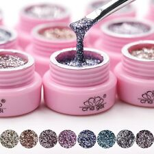 12 Colors 3G glitter led uv builder gel nail polish set acrylic nail art tools