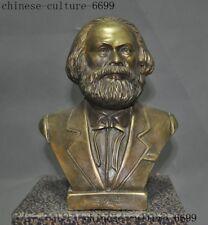 excellent German Great Communist Carl Marx Bust Bronze Statue