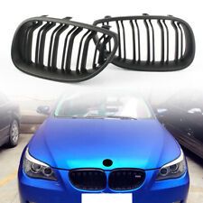 BMW E60 E61 M5 style chrome black front kidney grilles grille double spoke slat