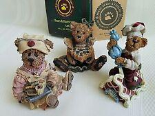 3 Boyds Bears Bailey the Baker w/ Box Rosemary Bearhugs & Simon Icing Touches