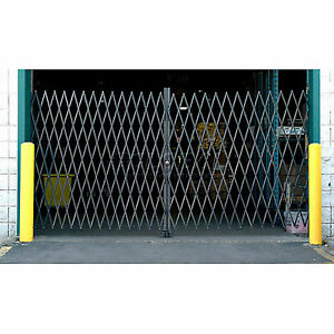10'W Double Folding Security Gate, 6-1/2'H