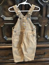 18 month carhartt overalls light brown