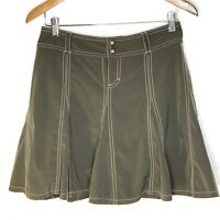 Athleta Whatever Skort Skirt, Activewear, Tennis Hiking Golf Sz 2 Khaki Petite