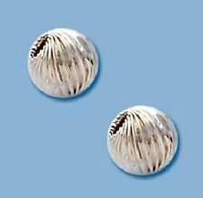 5 MM  Sterling Silver Twisted Round Beads Pkg. of  12  Made In USA #5105S