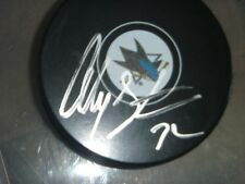 Alex Stalock San Jose Sharks Signed/Auto Puck  COA