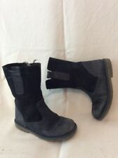 Girls John Lewis Dark Blue Leather Boots Size 27