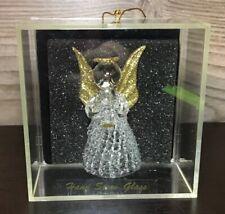 Antique Hand Spun Glass Angel Ornament