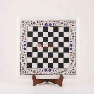 Marble Pattern Chess Board With Wooden Stand Chess Set - Ideal Birthday Gift Her