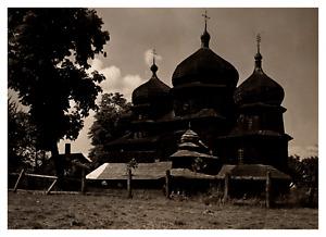 Ukraine, Drohobytch, vieille église  Vintage silver print Tirage argentique