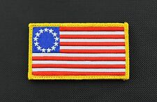 Betsy Ross American Flag Embroidered Morale Patch 1776 Patriot VELCRO® Brand