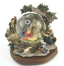 "Holy Family And Three Kings 7"" Christmas Nativity Musical Waterglobe Snow Globe"