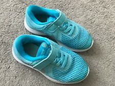NIKE GIRLS REVOLUTION BRIGHT BLUE TRAINERS SIZE 11