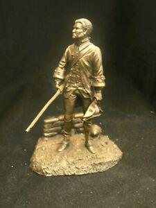 Franklin Mint Pewter figure. Militiaman Massachussetts . American Revolution