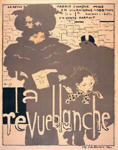 Pierre Bonnard La Revue Blanche Giclee Art Paper Print Poster Reproduction