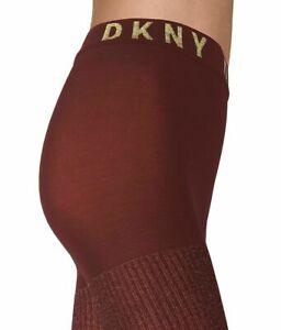 DKNY Lurex Rib Control Top Tights
