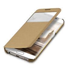 kwmobile Flip Cover Schutz Hülle für Samsung Galaxy S6 Edge Gold Case Tasche