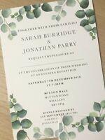 Flat   Print   Foliage   Botanical   Eucalyptus   Evening   Wedding Invite