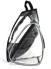 Travel Sport Clear PVC Vinyl One Shoulder Sling Backpack / School Bag 417BK