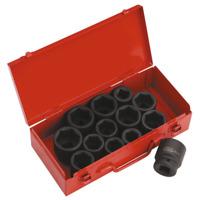 """Sealey Impact Socket Set 13pc 3/4""""Sq Drive Metric/Imperial - AK686"""
