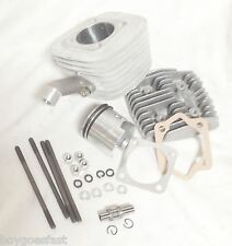 47mm 66cc 80CC Gas Motorized Bicycle Engine Cylinder Head Set Piston KIT 6mm