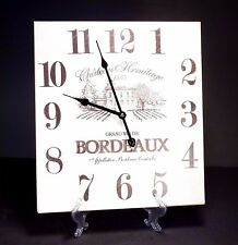 Vintage Old Fasion Style Hanging Wall Clock , Bordeaux Wine Design , 38 cm High
