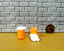 TWO  ORANGE COLOR COOLERS  READY TO DISPLAY  MINIATURE  ACCESSORIES 1/24 G SCALE