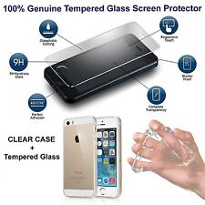 For iPhone 6 6s Case Crystal Clear Cover + Free Tempered Glass Screen Protector