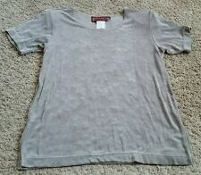 Marcy Allan Shirt size small S - light brown/shimmery