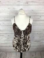 KAREN MILLEN Strappy Top - Size UK12 - Silk - Great Condition - Women's